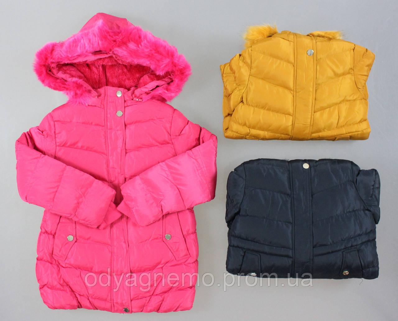 Курточка на хутряній підкладці для дівчаток Nature оптом ,2/3-8/9 років.