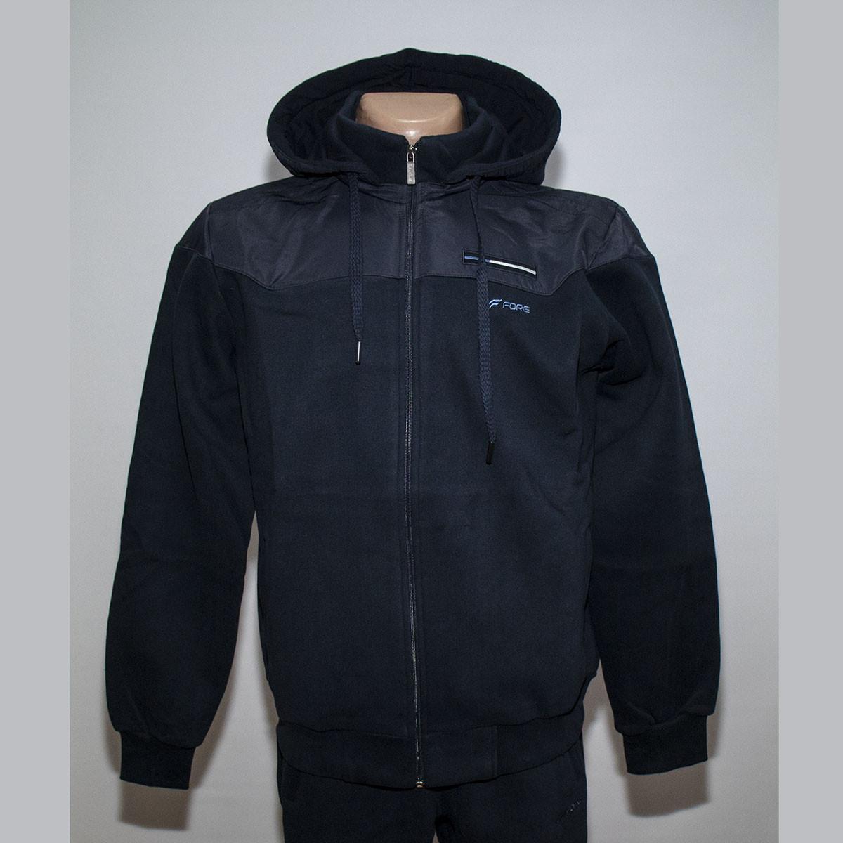 4864a32a1e7c Теплый полубатальный мужской спортивный костюм с капюшоном трехнитка т.м.  Fore 5328g