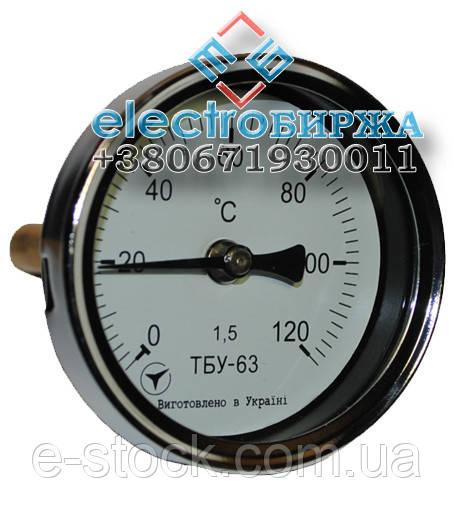 Биметаллические термометры ТБУ-63 (осевые)
