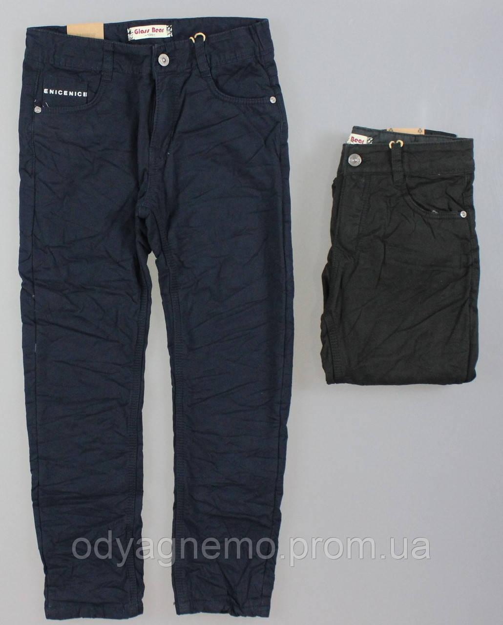 Котоновые брюки на флисе для мальчиков Glass Bear оптом , 134-164 рр.