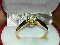 Золотое кольцо 750 проба бриллиант 0.74 Ct  .Размер 18.5