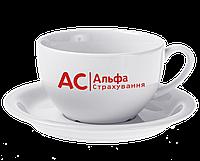 Чашка джамбо с блюдцем чай/латте 350 мл