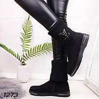 Замшевые ботинки зимние женские   36, 37, 40 ,41 размер