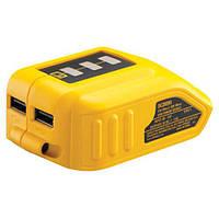Адаптер USB зарядного устройства DeWALT, XR, совместимо с батареями Li-Ion 10.8V, 14.4V и 18V XR, шт