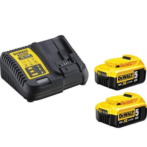 Устройство зарядное DeWALT 10,8, 14.4, 18В XR Li-Ion,+2x5,0 Ач акк,время зарядки 30 мин., вес 0,5 кг, шт