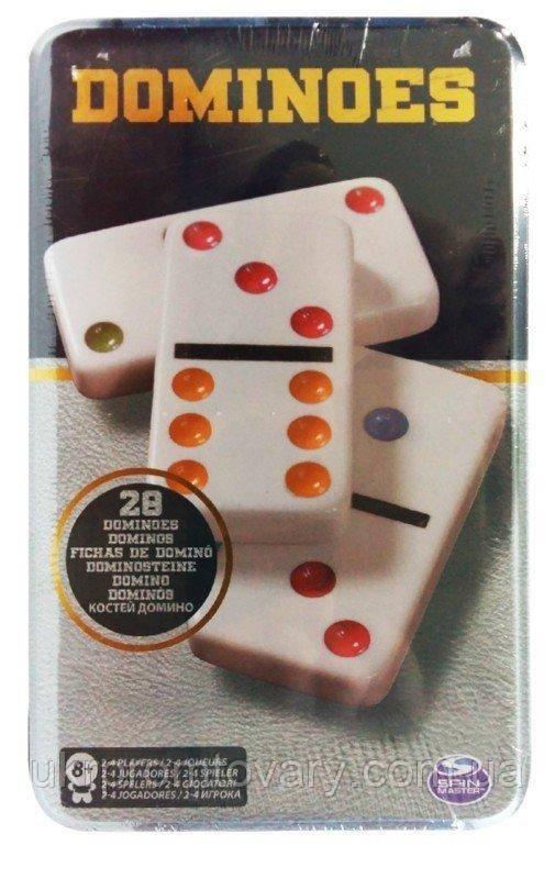 Настольная игра Домино Железная Коробка Spin Master разноцветное SM98405/6033156