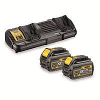Зарядное устройство DeWALT, XR FLEXVOLT,4А(двойное),Li-lon,XR Li-lon,2 аккум. DCB546,1,2 кг.,коробка, шт
