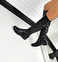 Кожаные женские сапоги, фото 1