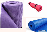 Каремат (коврик) для гимнастики, туризма  однослойный 180 х 60 х 0,6 см.