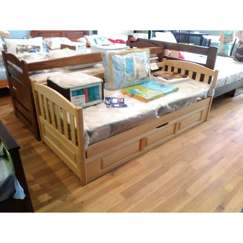 41836509115bc4 Ліжко дитяче з натурального дерева з підйомним механізмом Немо Дрімка