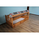 Ліжко дитяче з натурального дерева з підйомним механізмом Немо Дрімка, фото 4