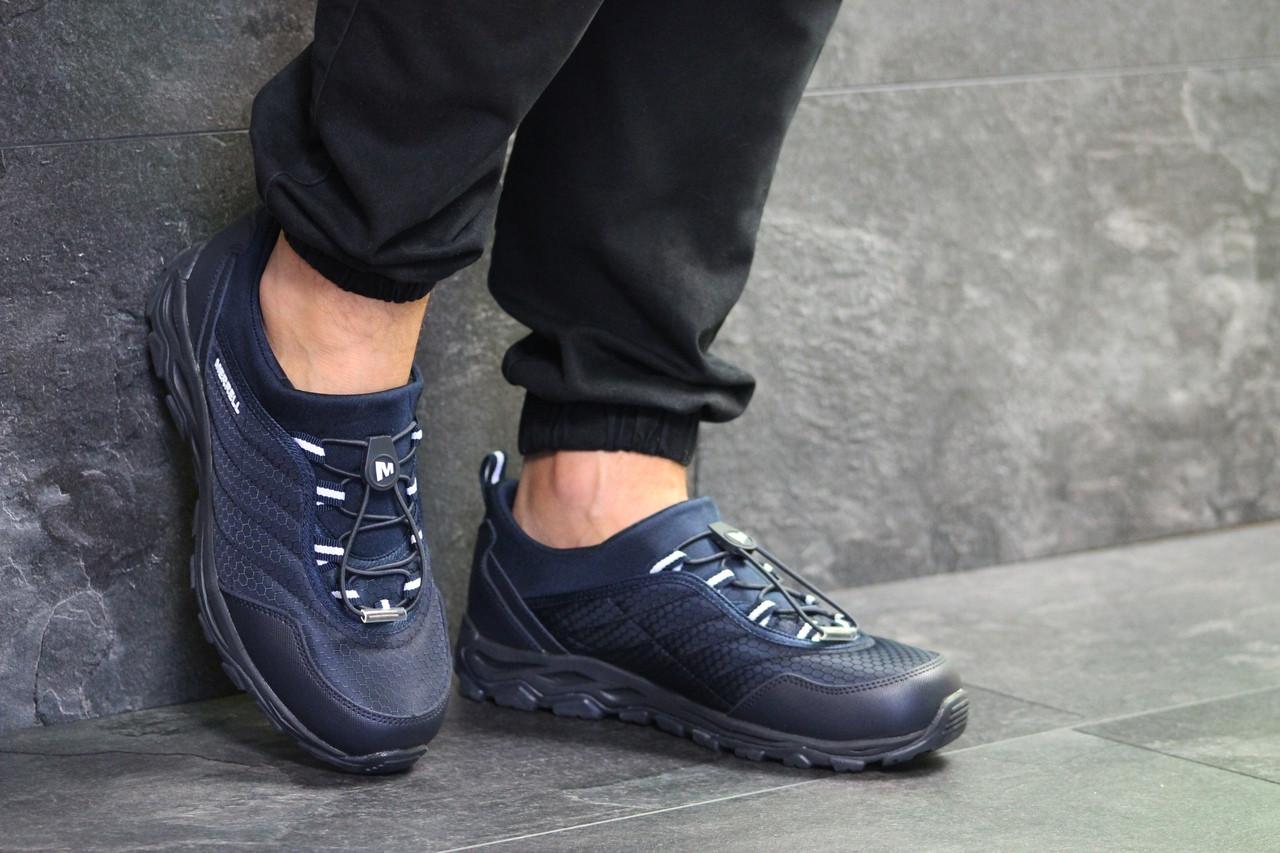 Мужские кроссовки темно синие разных размеров Merrell