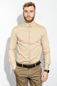 Рубашка мужская мелкий принт 333F014 (Песочный)