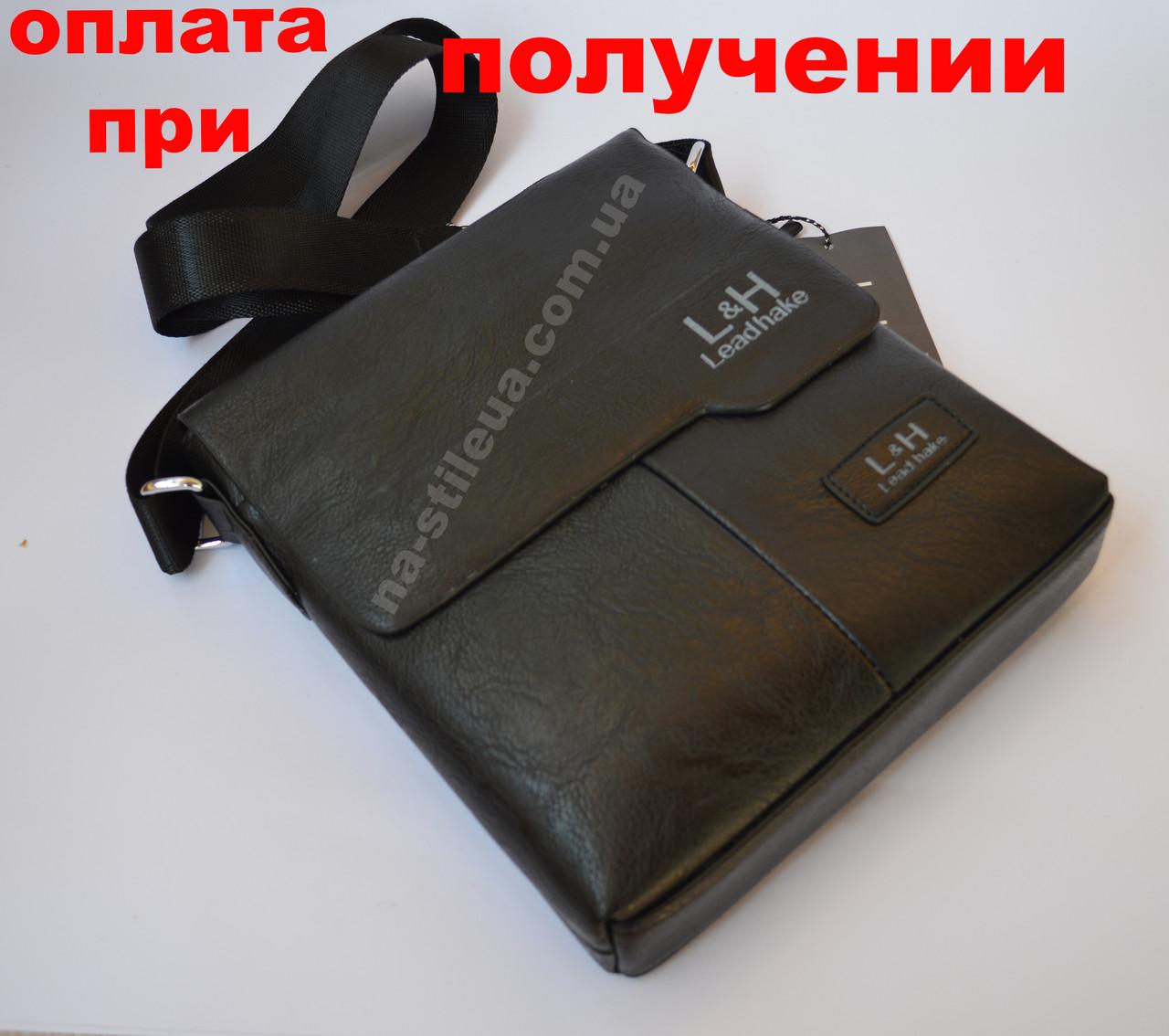 Чоловіча шкіряна фірмова сумка барсетка Lead hake класика купити
