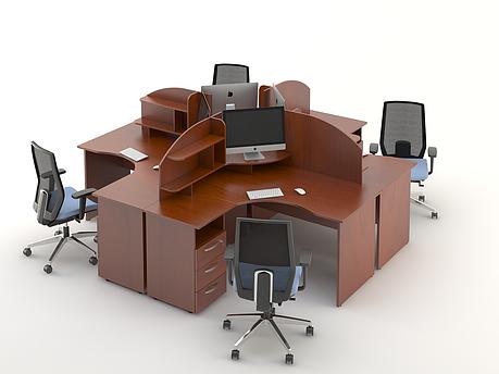 Комплект мебели для персонала серии Атрибут композиция №5 ТМ MConcept, фото 2