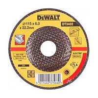 Круг шлифовальный DeWALT по металлу, 115х6.0х22.2мм, изогнутого профиля., шт