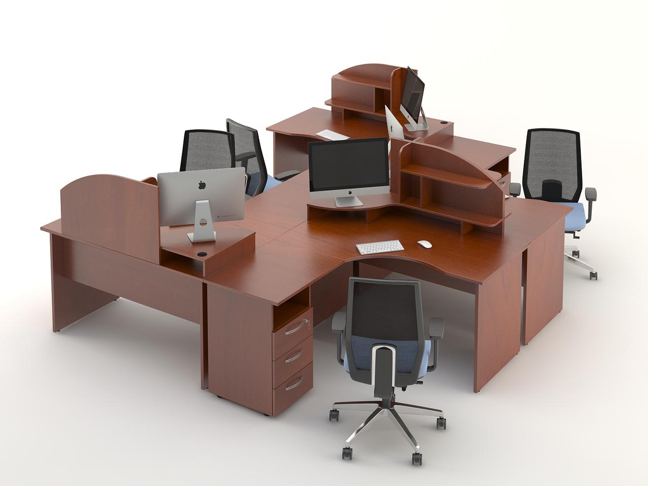 Комплект мебели для персонала серии Атрибут композиция №6 ТМ MConcept