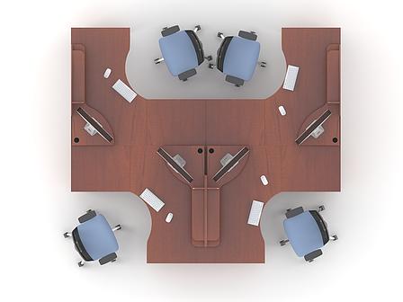 Комплект мебели для персонала серии Атрибут композиция №6 ТМ MConcept, фото 2