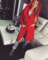 Красное oversize пальто кашемировое, фото 1