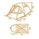 Палатка туристическая Кемпинг Light 2, фото 7