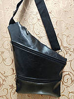 Барсетка слинг на грудь искусств кожа Унисекс/Cумка спортивные для через плечо(ОПТ) , фото 1