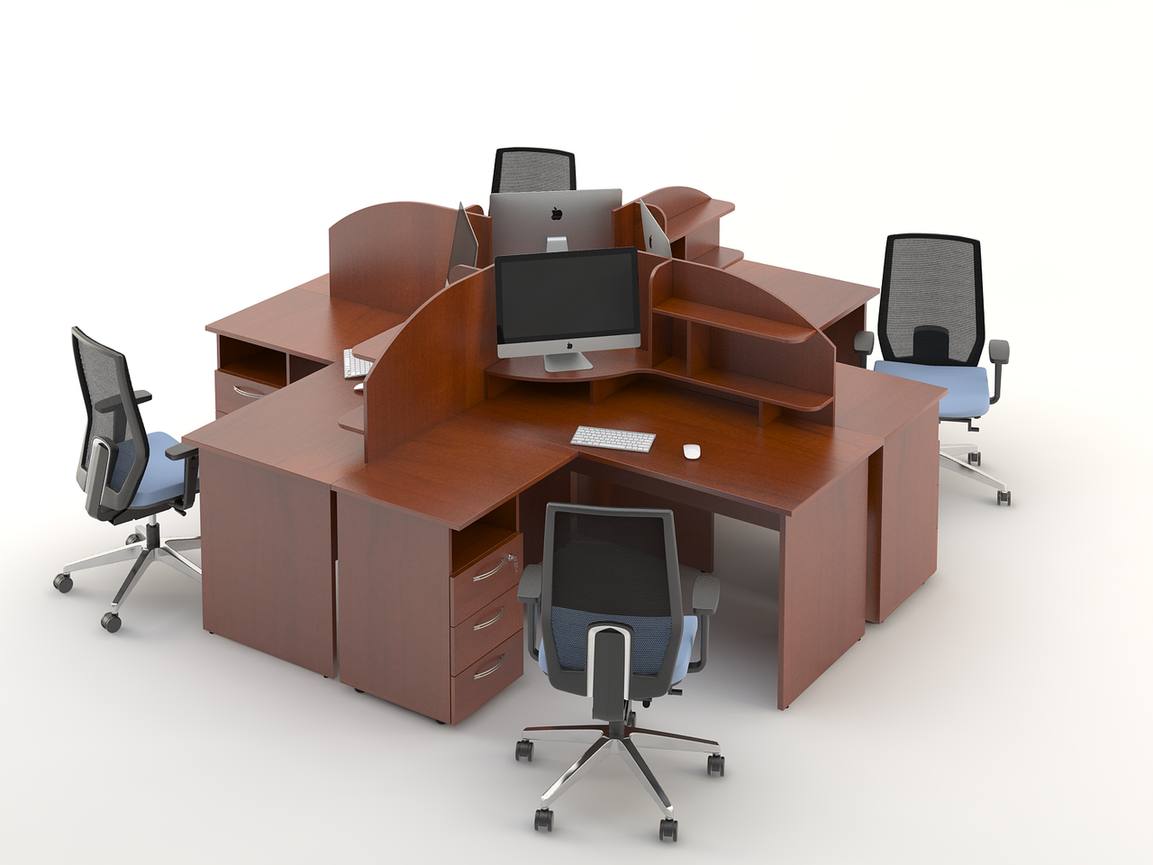 Комплект мебели для персонала серии Атрибут композиция №7 ТМ MConcept