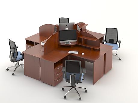 Комплект мебели для персонала серии Атрибут композиция №7 ТМ MConcept, фото 2