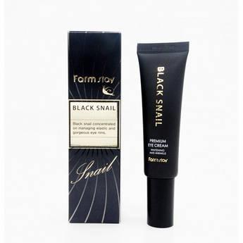 Увлажняющий крем с муцином улитки для кожи вокруг глаз FarmStay Black Snail Premium Eye Cream