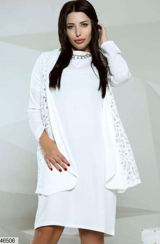Нарядный костюм платье и кардиган размеры:48-50,52-54,56-58