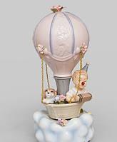 """Порцеляновий музична фігурка """"Клоун на повітряній кулі"""" Pavone CMS - 27/19, фото 1"""