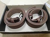 Мужской джинсовый ремень,классический 40 мм ( 4 см) . Цвет коричневый