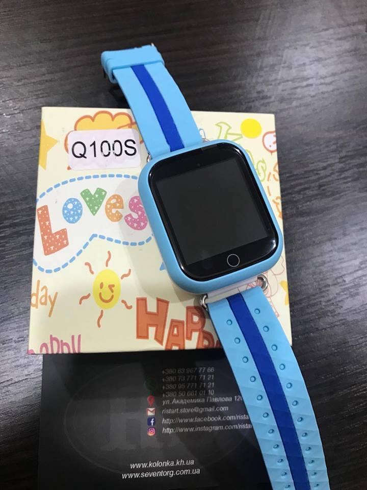 Детские умные часы Smart Watch GPS трекер Q100S Синий