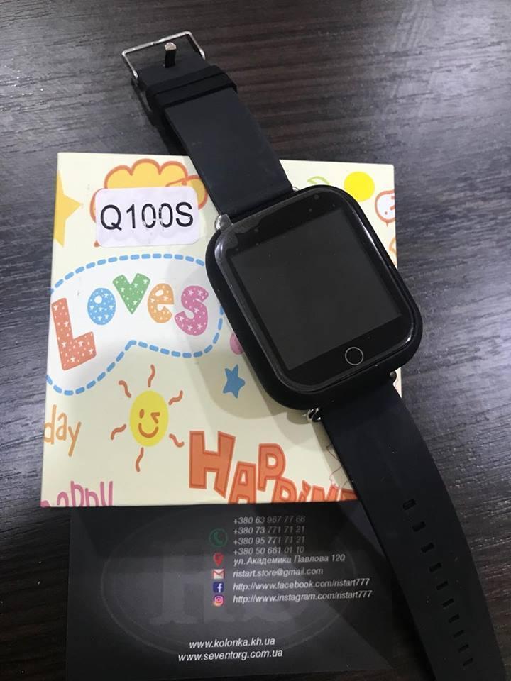 Детские умные часы Smart Watch GPS трекер Q100S Черный