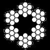 Трос оцинкованный, din 3055, (6x7), в полиэтиленовой оплетке, 5,0 mm, PCV, бухта 100 m, м.п.