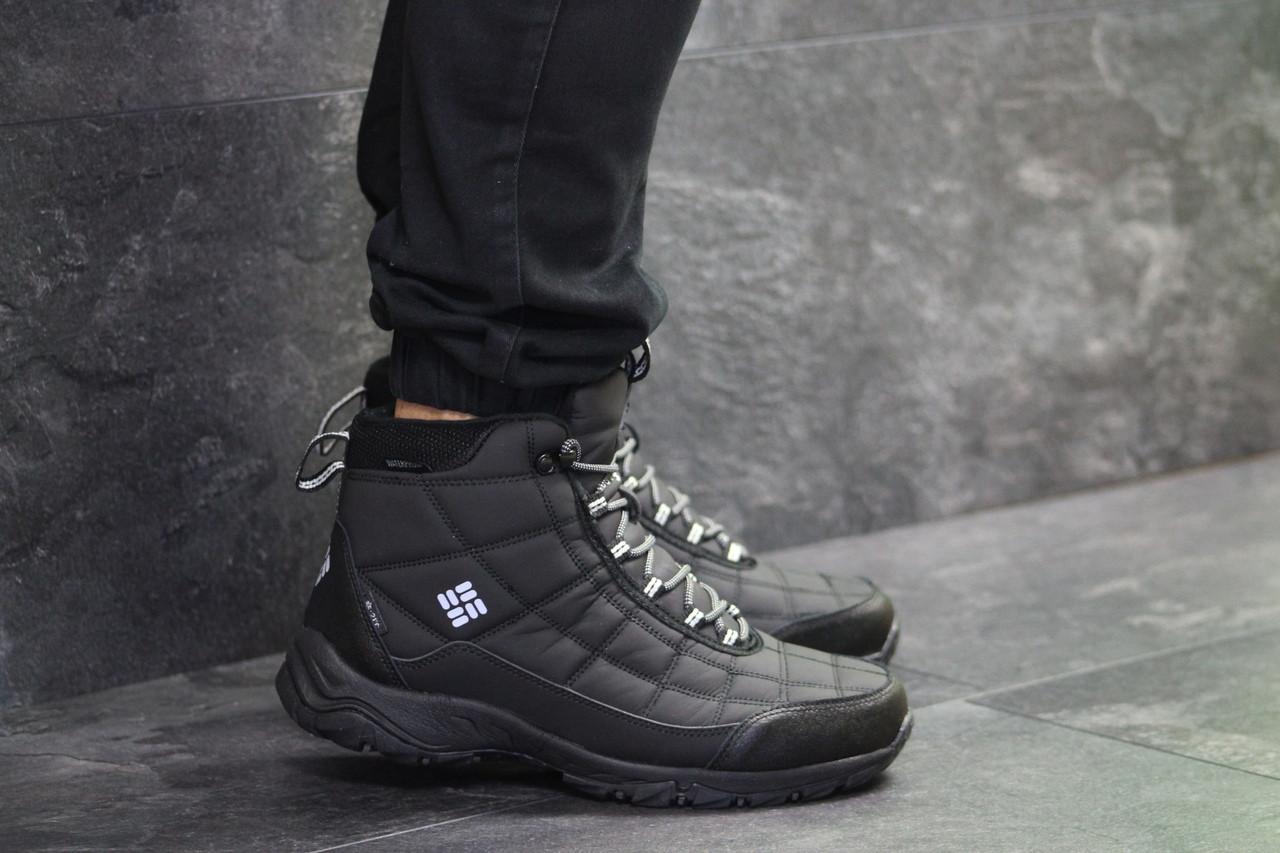 Высокие мужские кроссовки Columbia,черные 45р