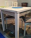Стол обеденный Марсель 90(+35+35)*70 белый - Урбан Лайт, фото 5