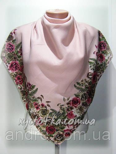 Кашемировые платки Флора, розовый