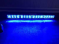 Фара вспышка LED315-4. 12-24 В. синяя , стробоскопы светодиодные.