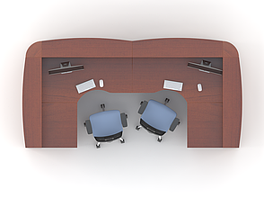Комплект мебели для персонала серии Атрибут композиция №12 ТМ MConcept, фото 2