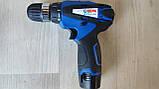 Шуруповерт акумуляторний дриль Витязь ТА 12-2Л з підсвічуванням дві швидкості, фото 4