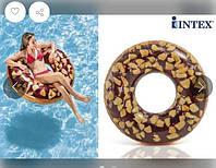 """Надувной Круг """"Пончик Шоколад"""" Intex 56262"""