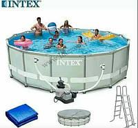 Бассейн круглый каркасный 26332 INTEX(549-132)
