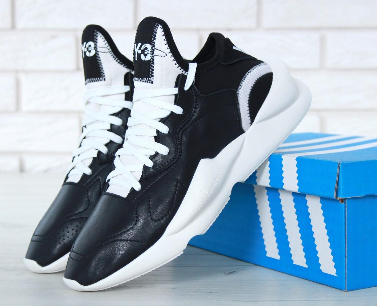 Черные с белым. Кроссовки мужские в стиле Adidas Адидас Y-3 Kaiwa код  товара KD-11651. c4434cf2e444f