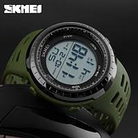 Skmei 1167 Tactic зеленые спортивные мужские часы, фото 1