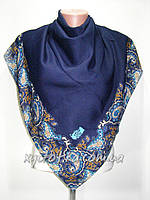 Кашемировые платки Турецкий мотив, тёмно синий