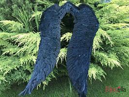 Крылья ангела Чёрные большие карнавальные 110*100 для маскарада на хэллоуин