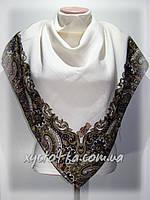 Кашемировые платки Турецкий мотив, молочный