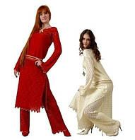 Вечерний костюм с брюками - восточный стиль