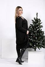 Жіноче об'ємне трикотажне плаття розміри:42-74, фото 2