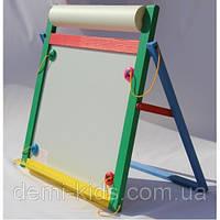 Доска магнитная для рисования мелом и фломастером + мольберт (напольная)